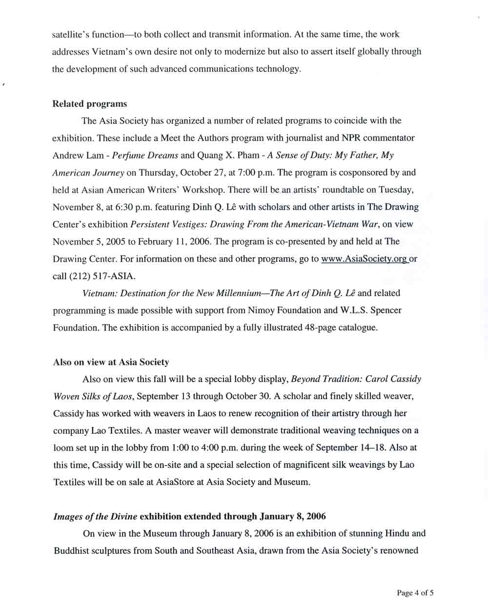 Vietnam: Destination press release, pg 4