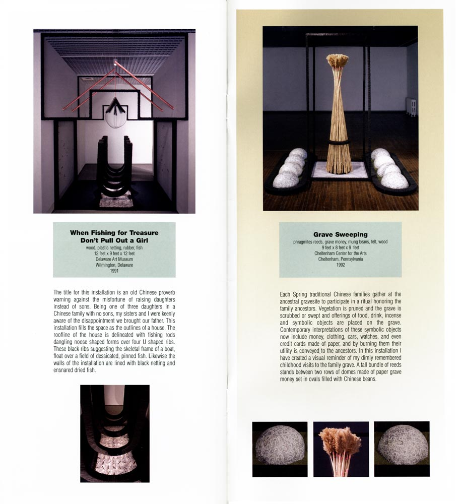 Excerpts from artist catalog, Mei-ling Hom Installations, 2002