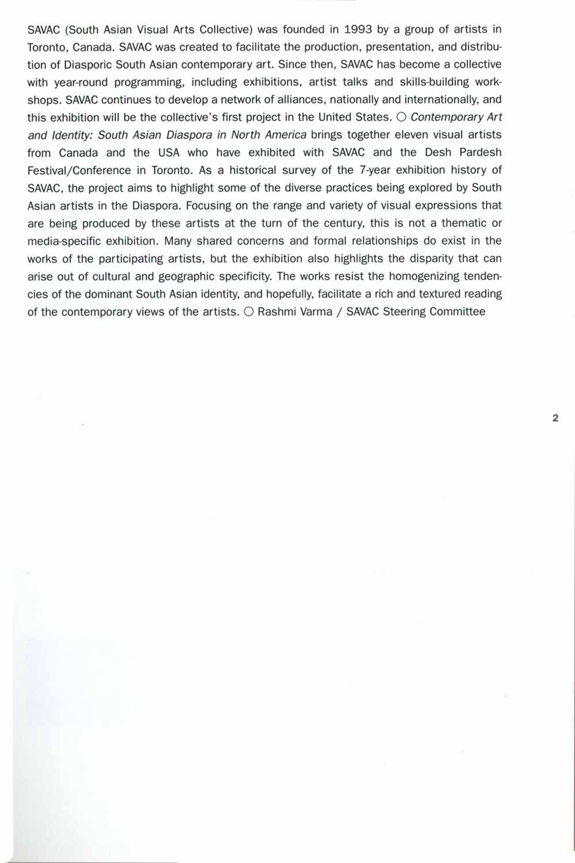 South Asian Diaspora brochure, pg 2