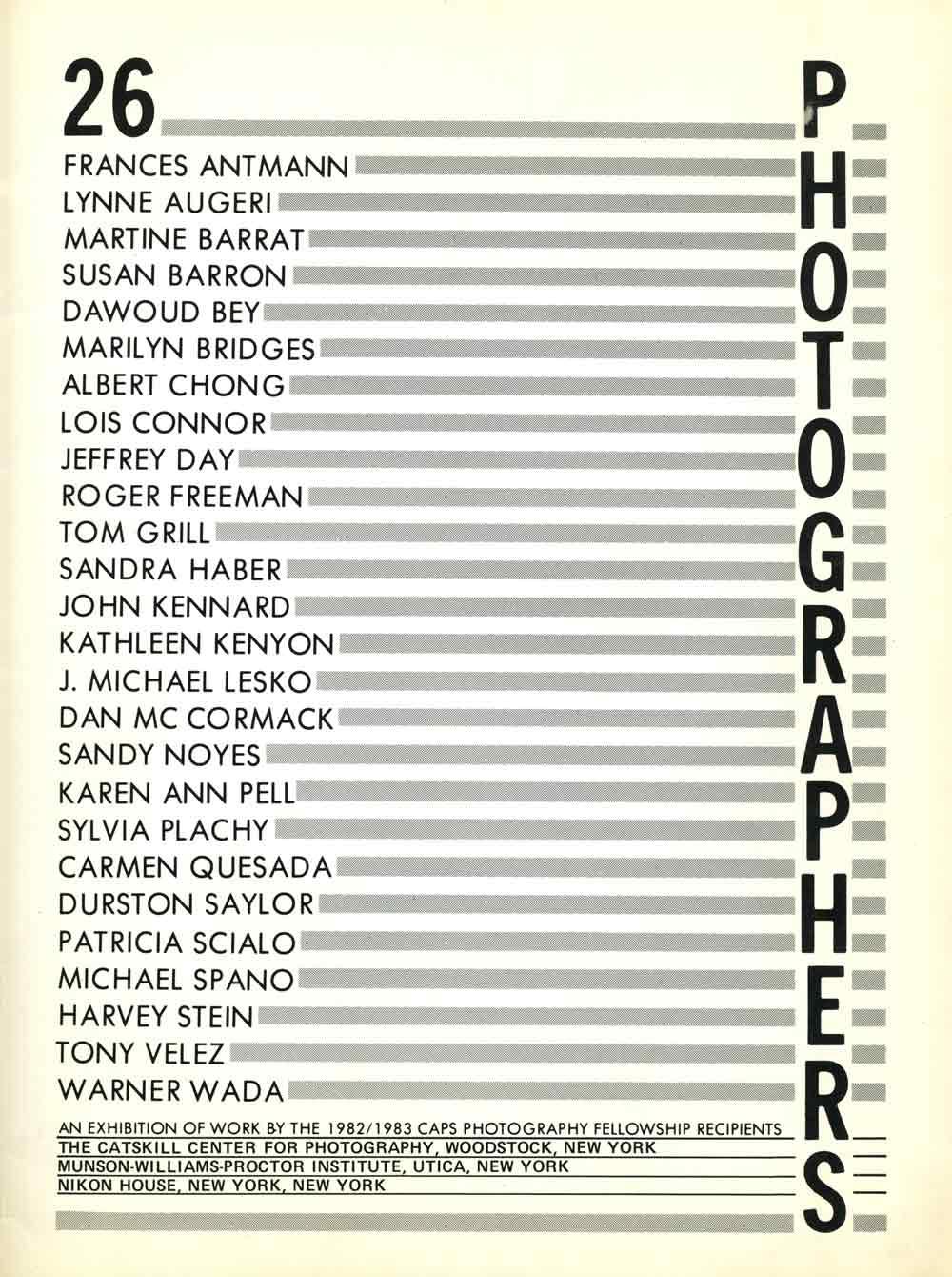 26 Photographers, pg 1