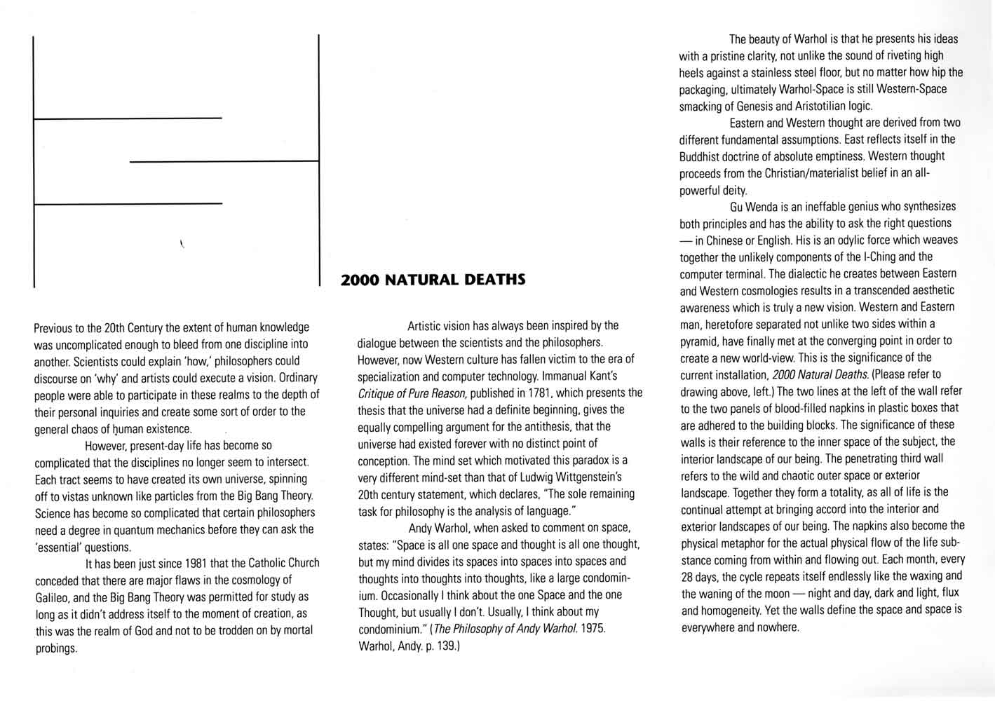 2000 Natural Deaths, catalog, pg 1