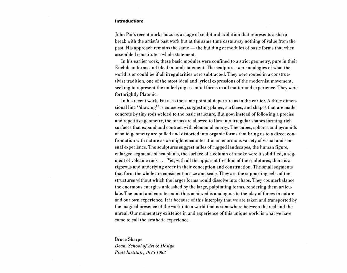 John Pai: Sculpture, pg 2