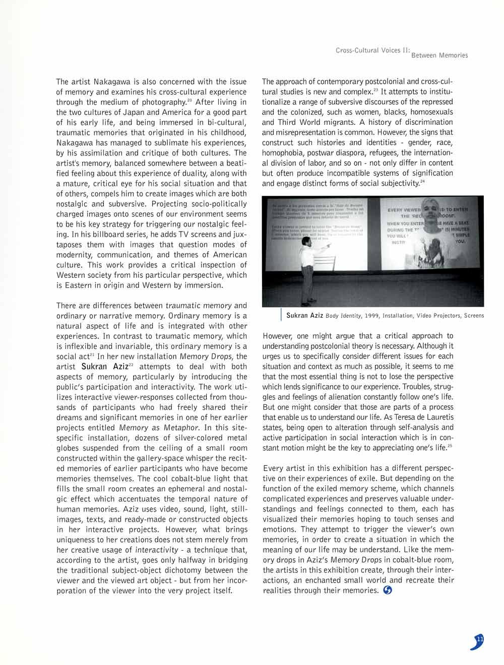 Cross-Cultural Voices II, exhibition catalog, pg 8