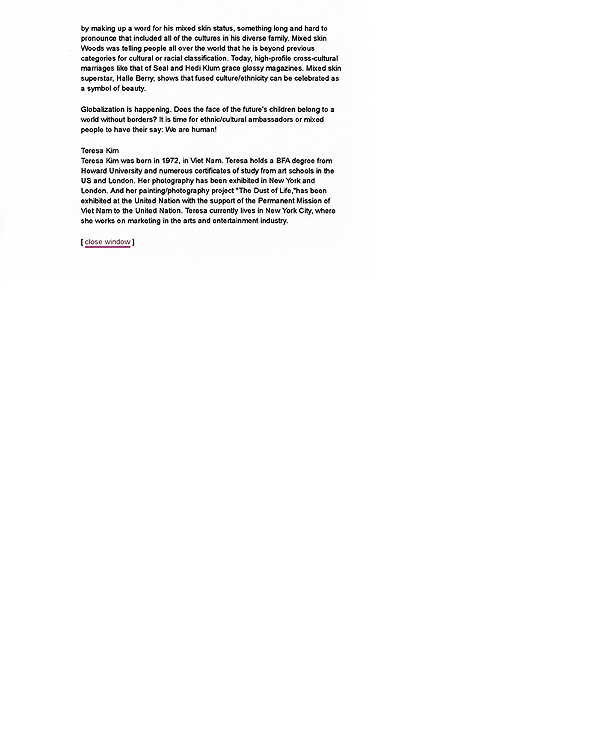 Mixed Skin, press release, pg 5