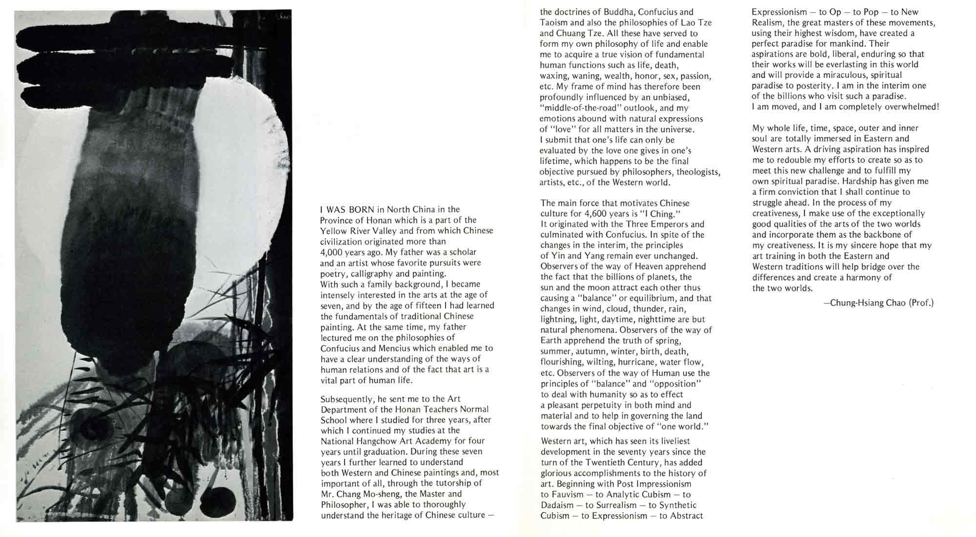 Chung-Hsiang Chao: Life Ripening Into Fullness, brochure, pg 2