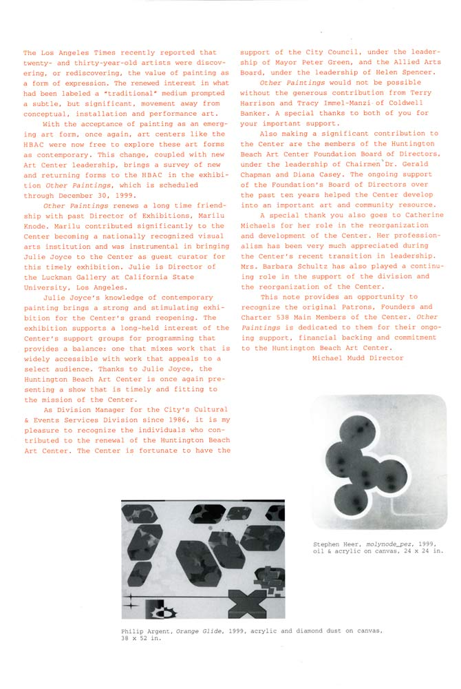 Other Paintings brochure, pg 2
