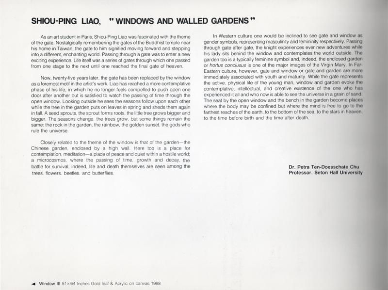 "SHIOU-PING LIAO ""Garden Series"""