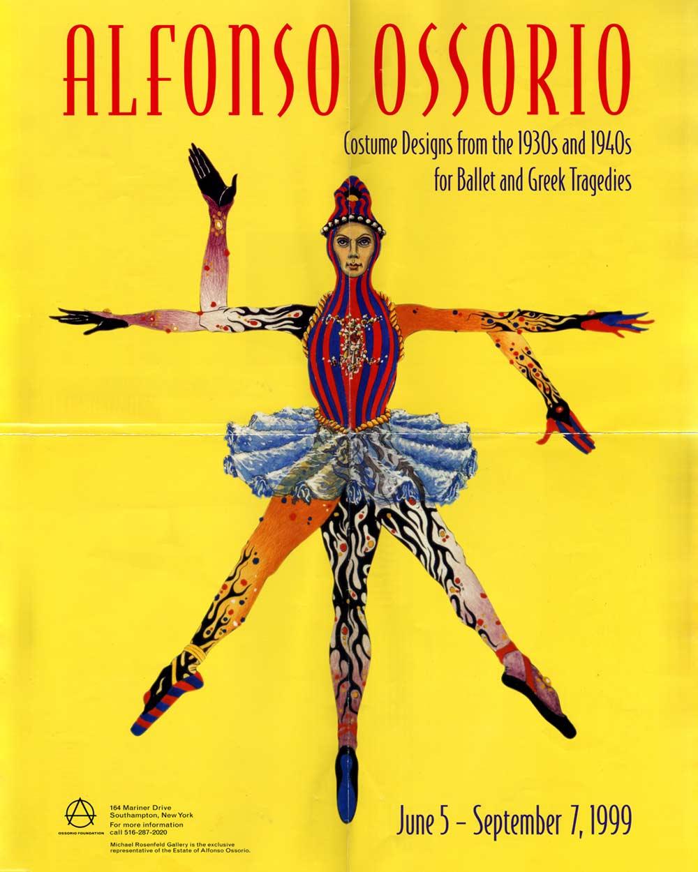 Alfonso Ossorio: Costume Designs, poster