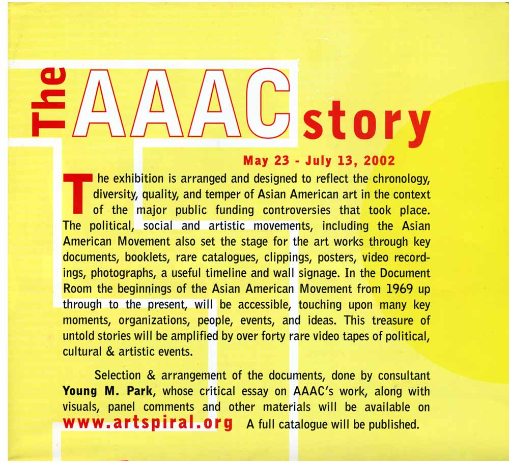 The AAAC Story, flyer, pg 3