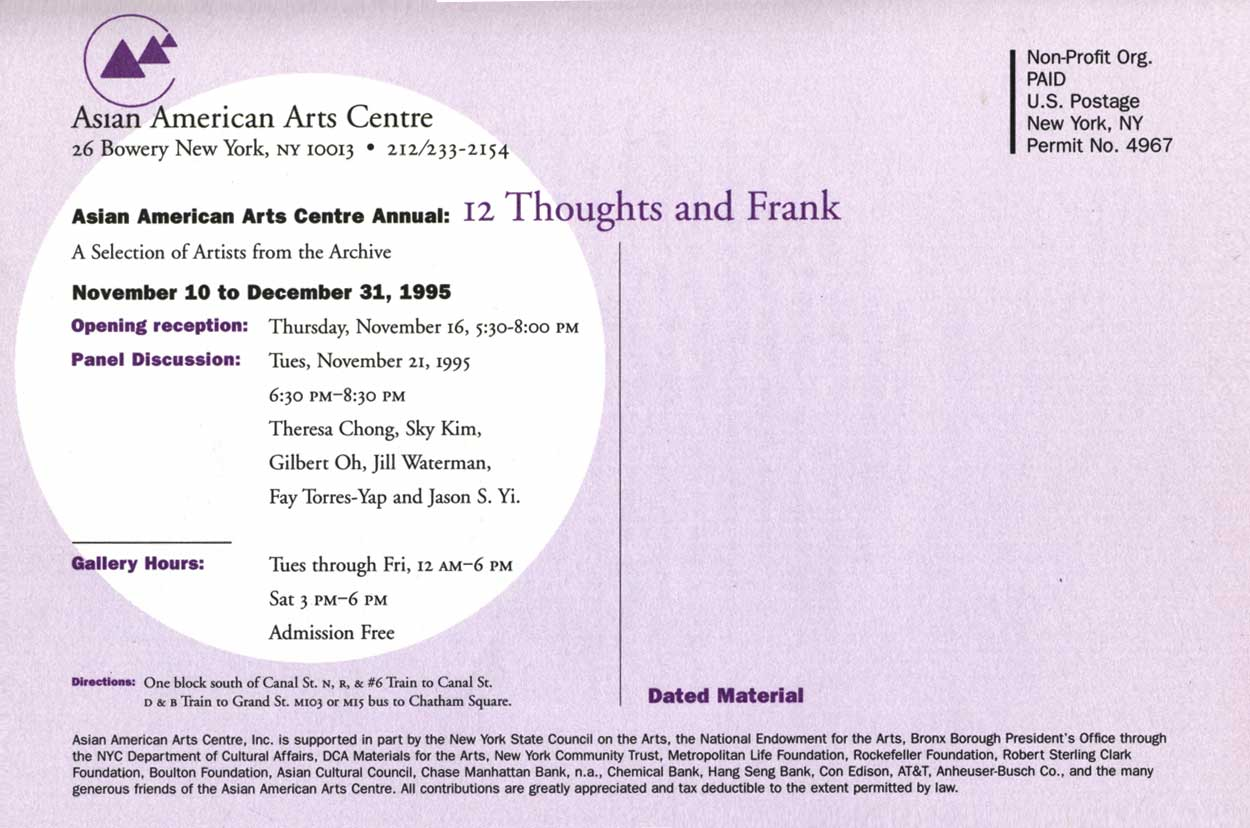 12 Thoughts and Frank, flyer, pg 3