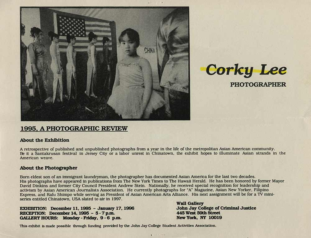 1995, A Photographic Review: Corky Lee, flyer