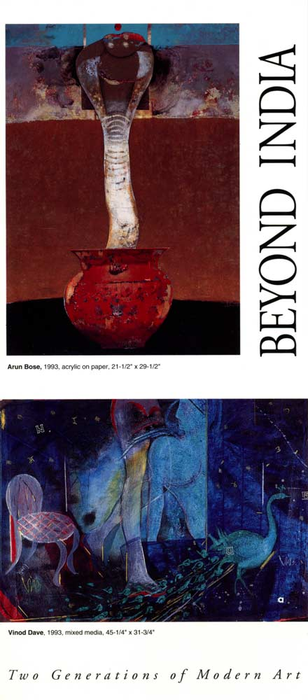 Beyond India: Two Generations of Modern Art, flyer, pg 1