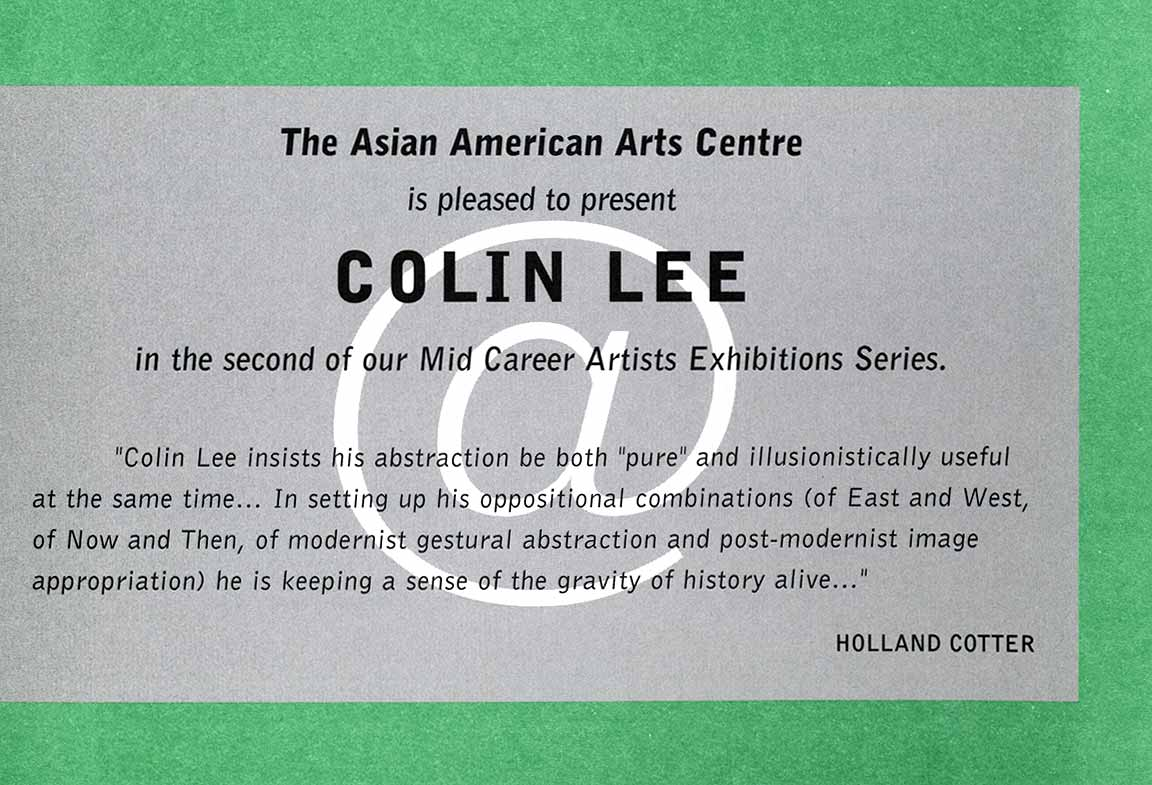 Colin Lee at Mid-Career, flyer, pg 5