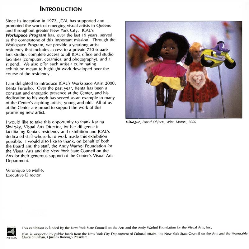 KENTA FURUSHO, flyer, pg 2