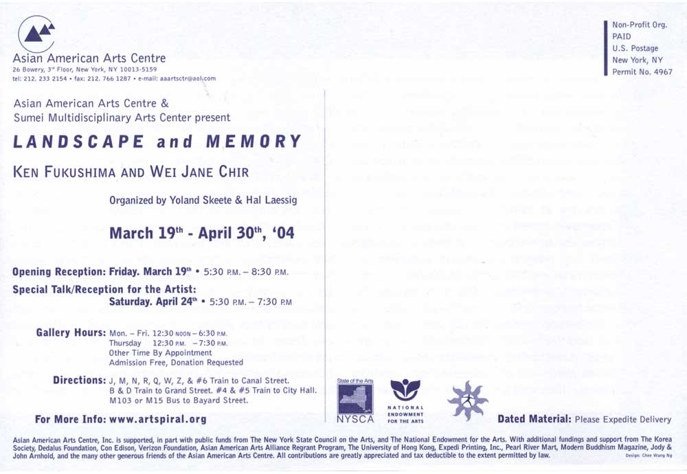 Landscape and Memory, flyer, pg 6