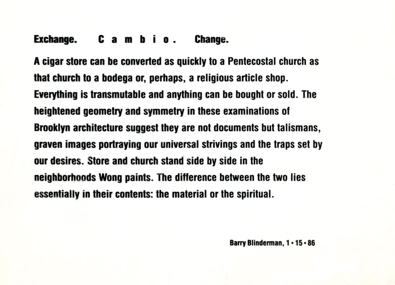 Martin Wong: The Sunset Park Paintings, flyer, pg 2