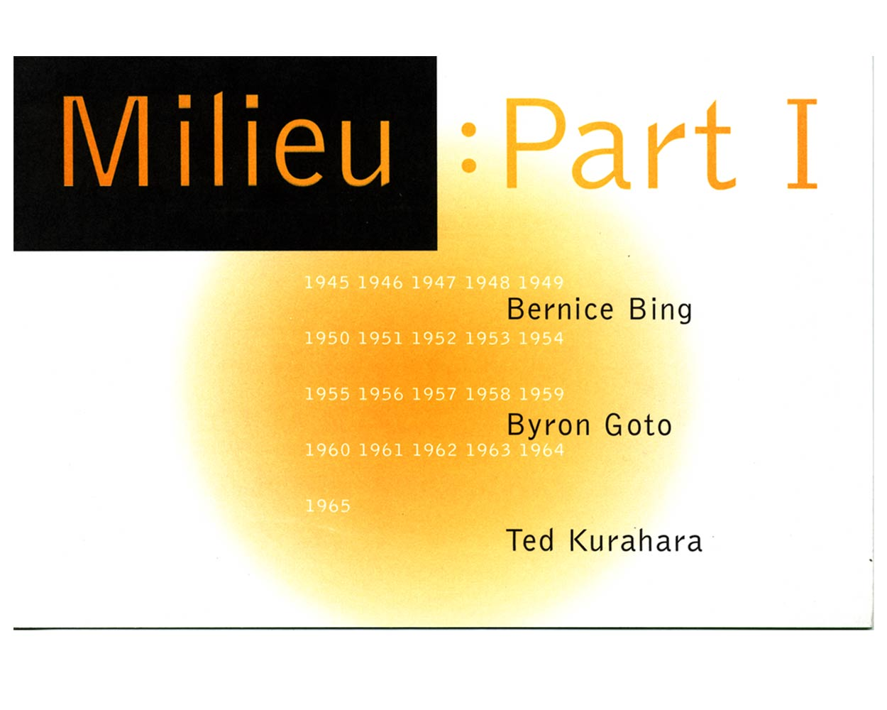 Exhibition flyer for Milieu Part: 1