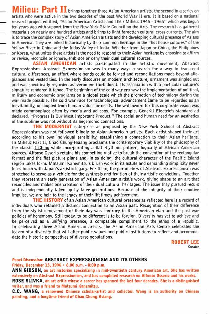 Milieu: Part II 1945-1965, flyer, pg 2