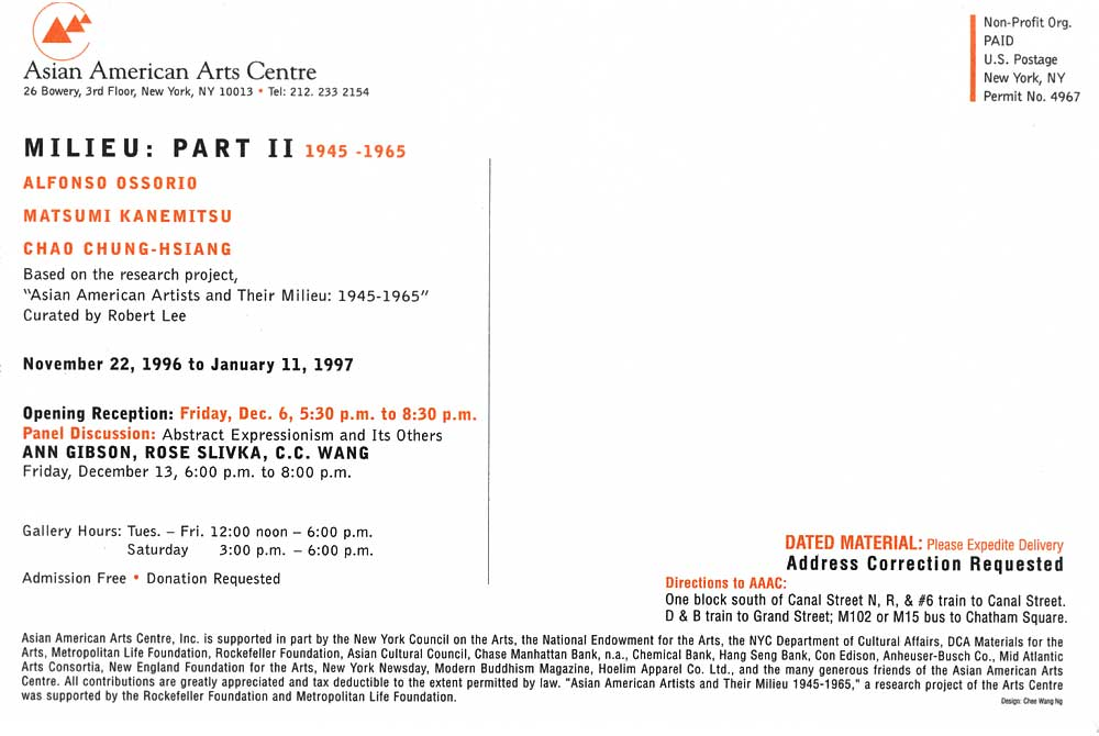 Milieu: Part II 1945-1965, flyer, pg 6