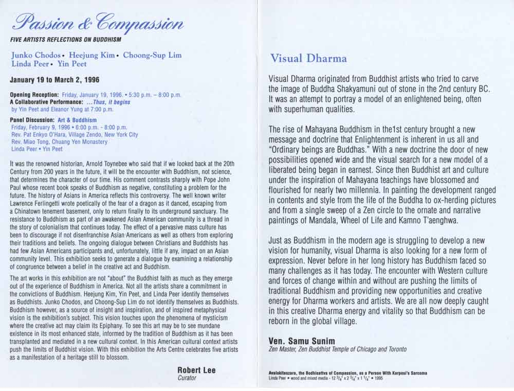 Passion & Compassion, flyer, pg 2