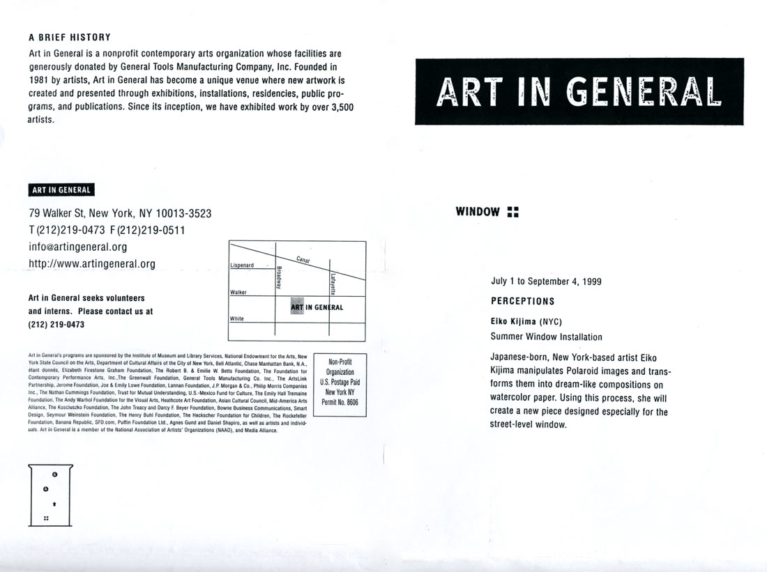 Art in General, flyer