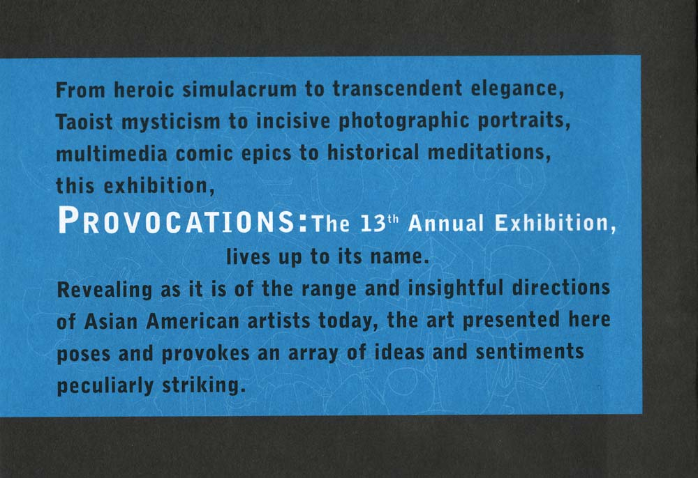 Provocations, flyer, pg 5