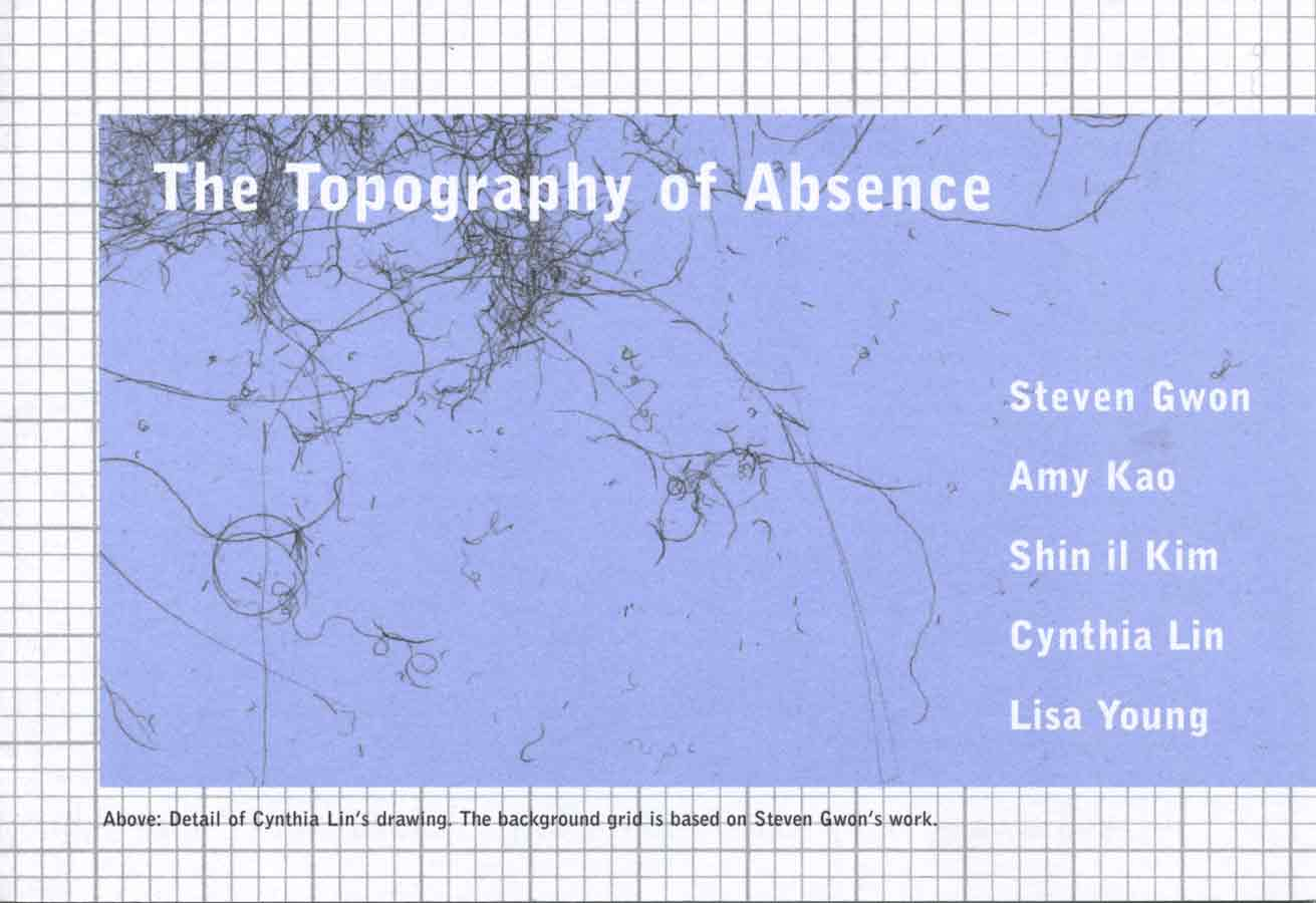 The Topography of Absence, flyer, pg 1