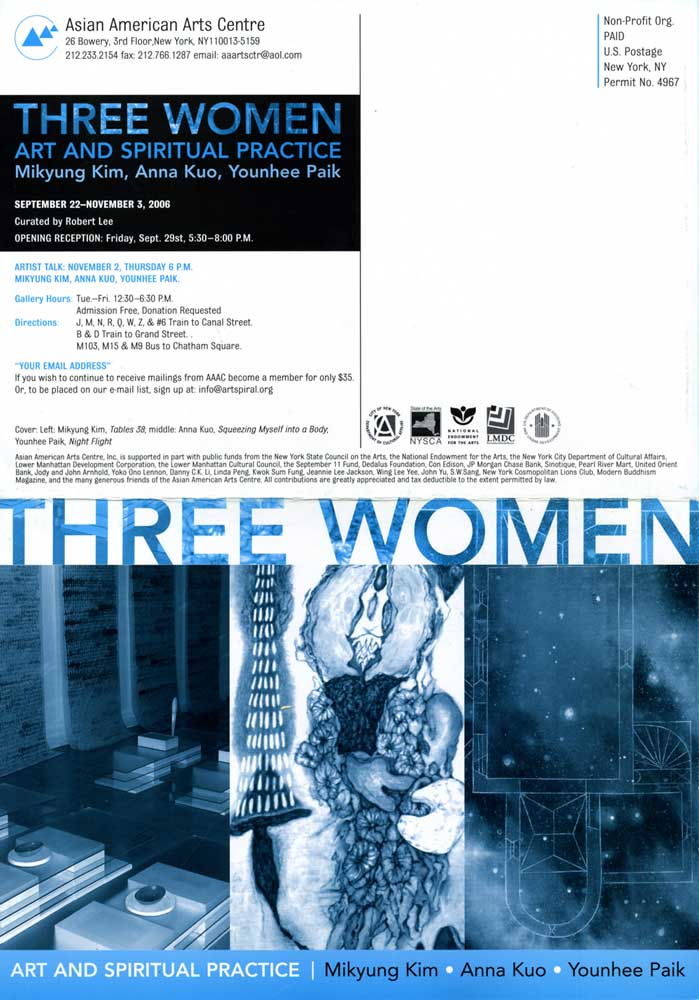 Three Women, flyer, pg 1