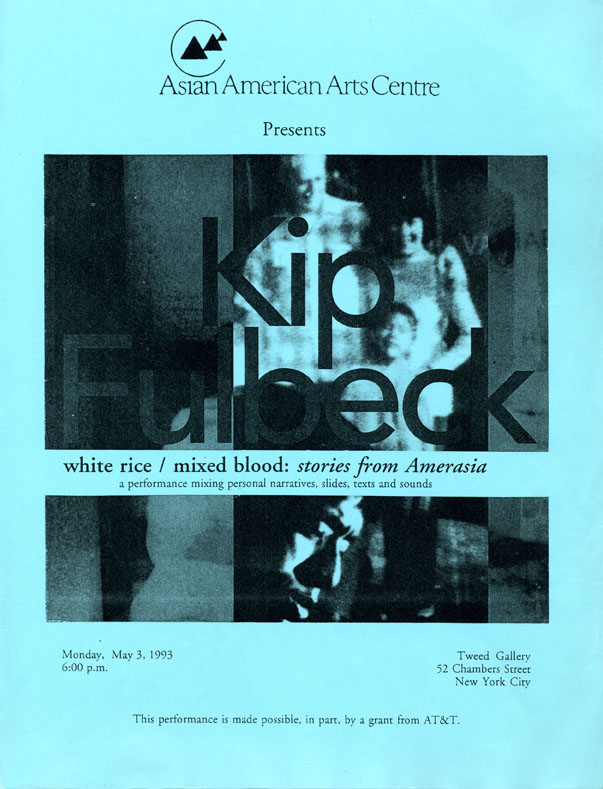White Rice/Mixed Blood flyer