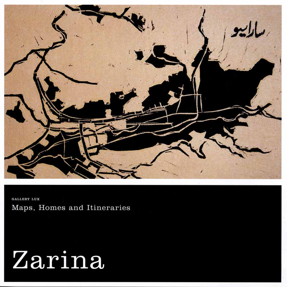 Zarina: Maps, Homes and Itineraries, flyer, pg 1