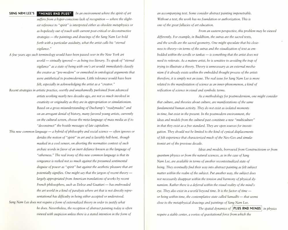 Minus and Plus, leaflet, pg 2