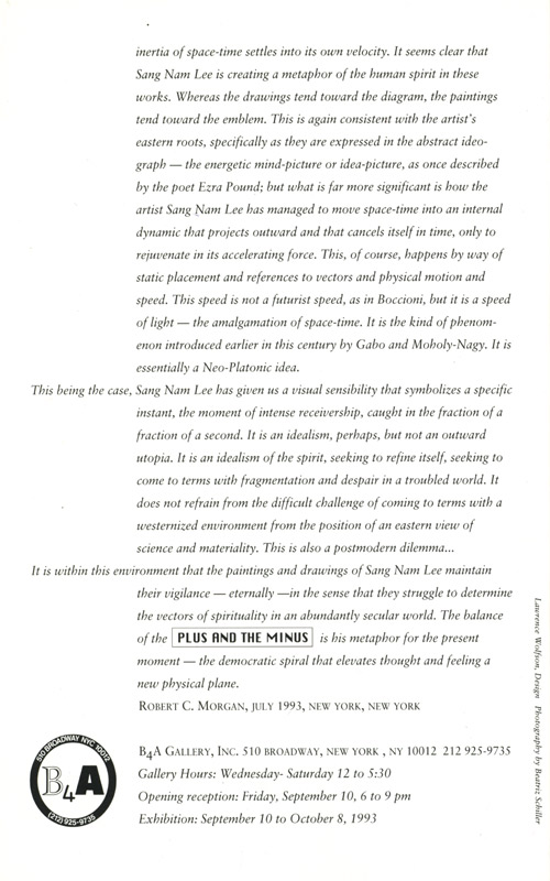 Minus and Plus, leaflet, pg 3