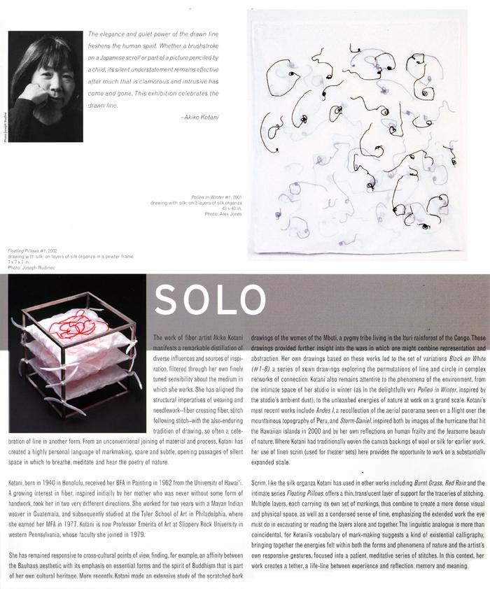 Solo: Akiko Kotani, leaflet, pg 3