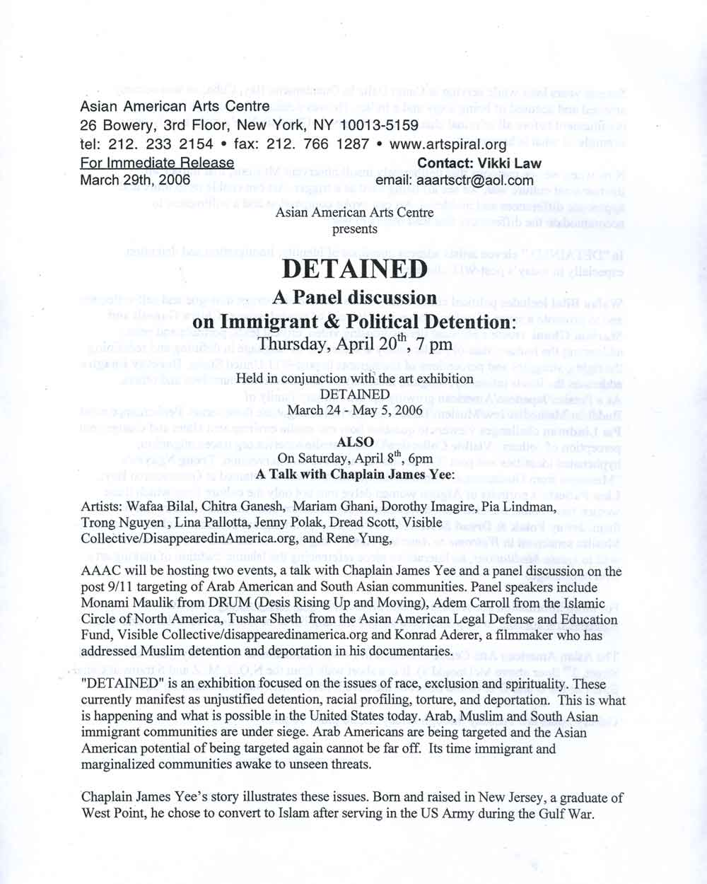 Detained, press release, pg 1