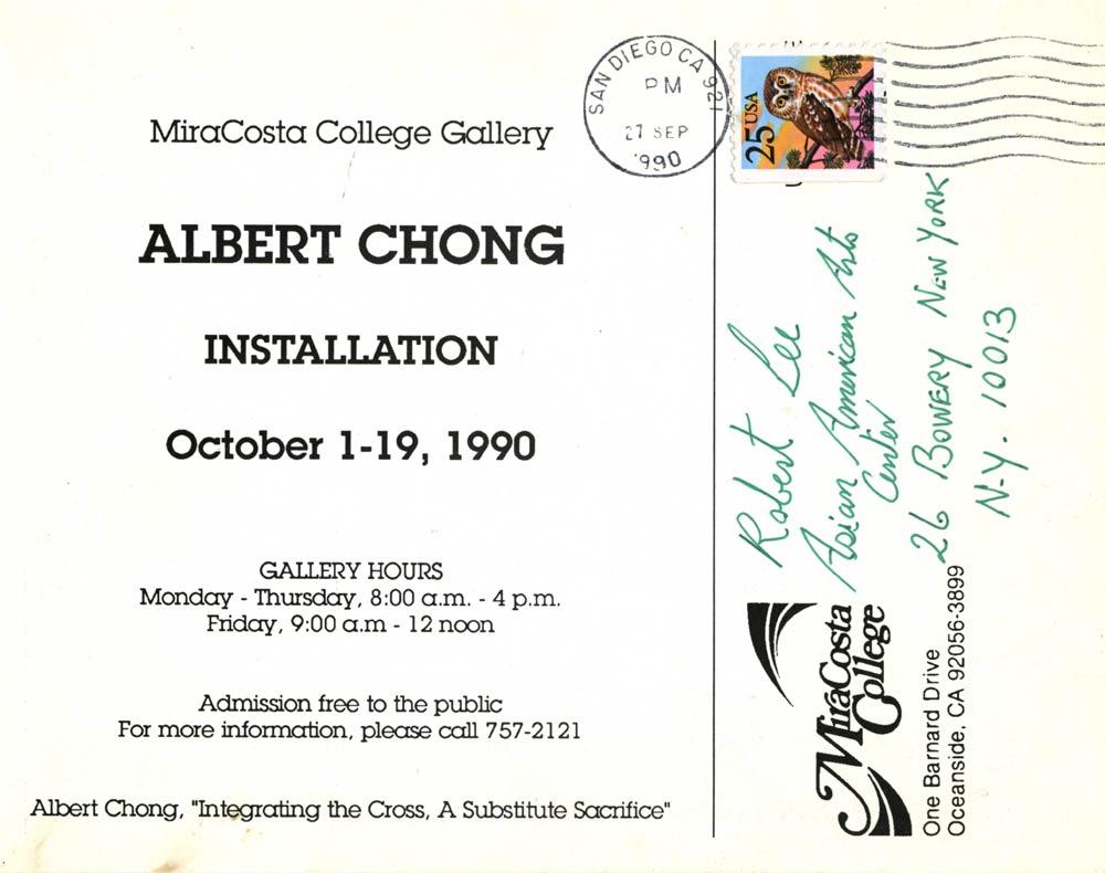 Albert Chong: Installation, pg 2