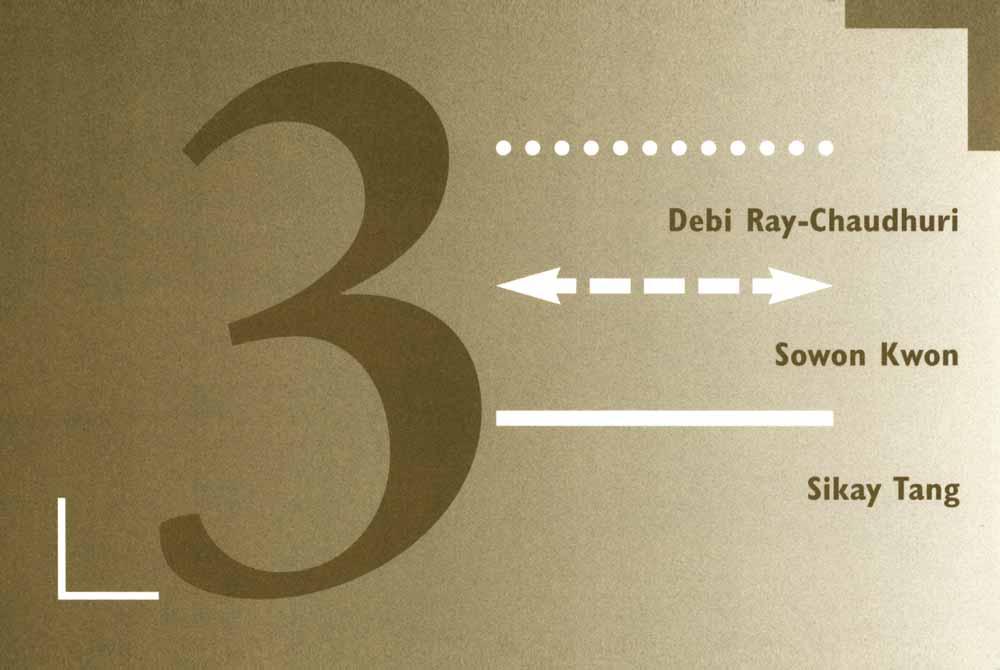Debi Ray-Chaudhuri, Sowon Kwon, Sikay Tan, posrcard, pg 1