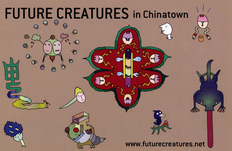 Future Creatures, postcard, pg 1
