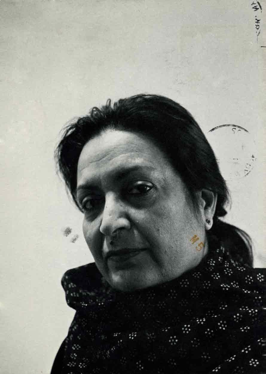 Zarina Hashmi: Sculptor and Printmaker, postcard, pg 1