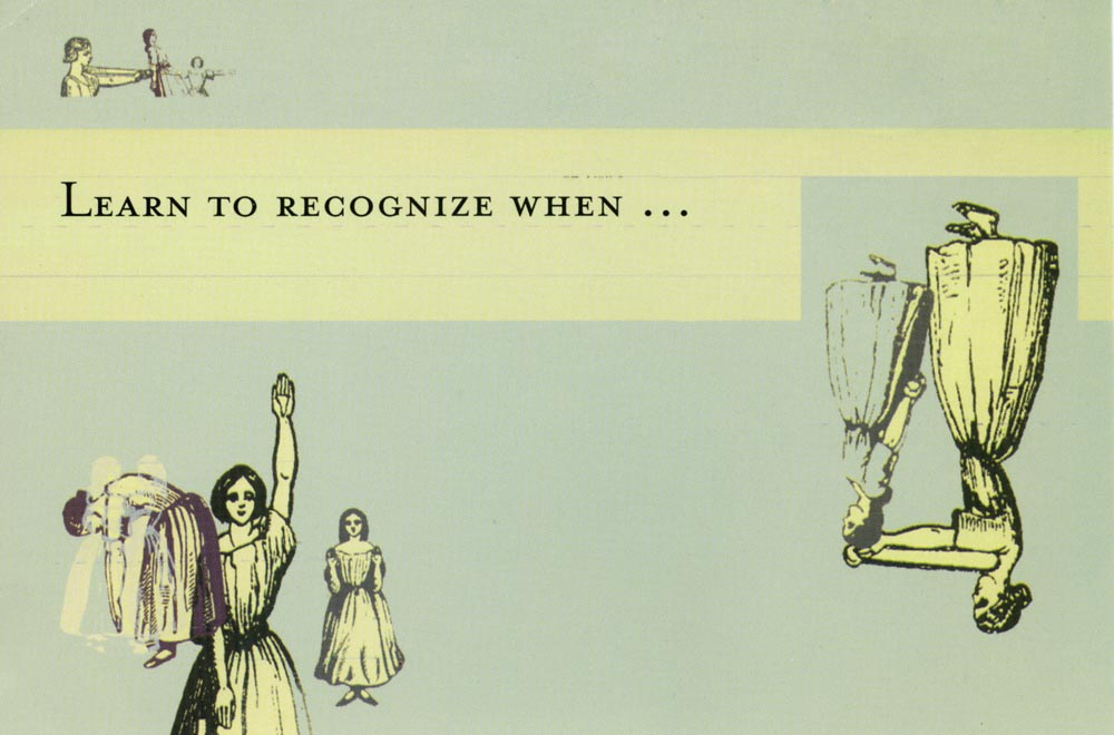Learn To Recognize When..., postcard, pg 1
