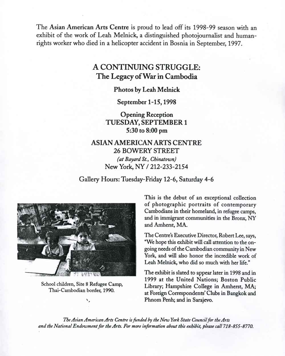 Continuing Struggle press release,  pg 1