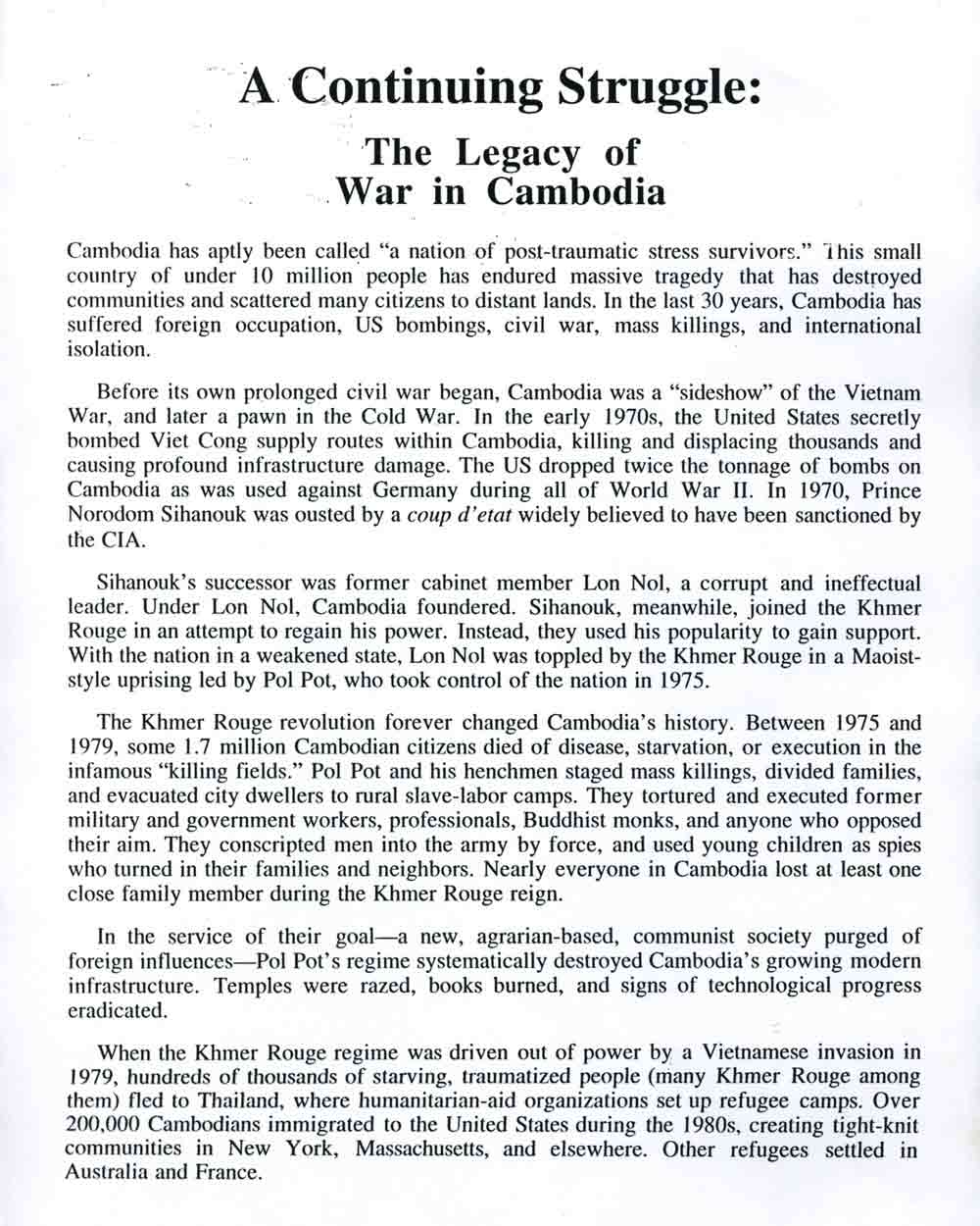 Continuing Struggle press release,  pg 3