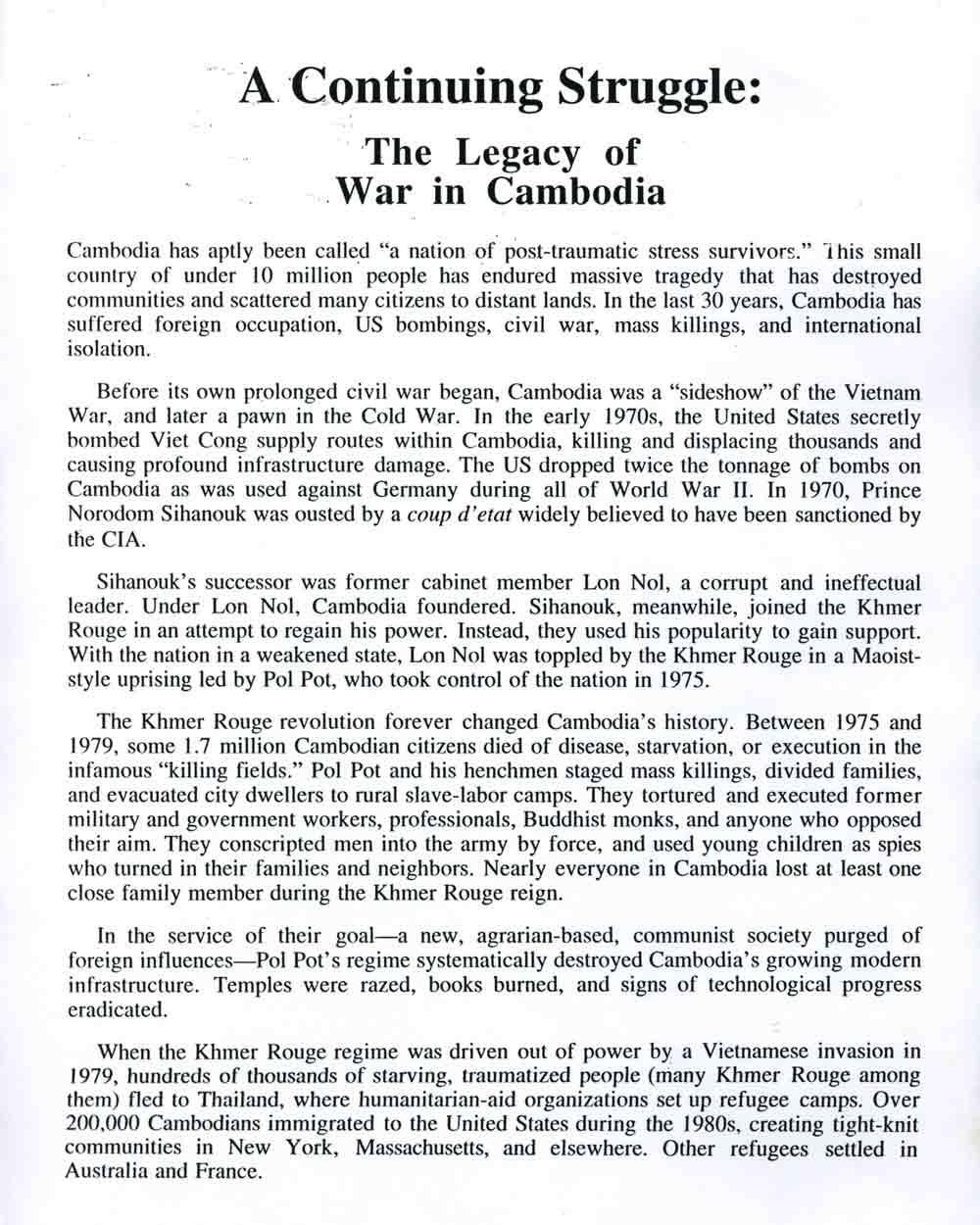 Continuing Struggle press release,  pg 3