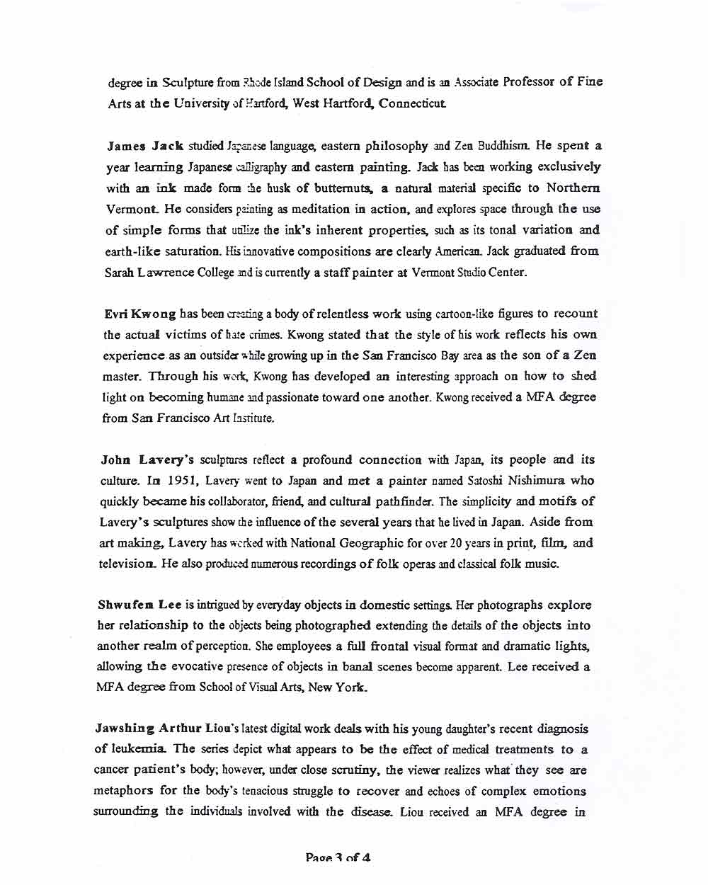 Butternut Ink, press release, pg 4