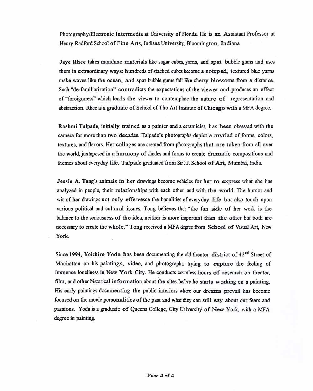 Butternut Ink, press release, pg 5