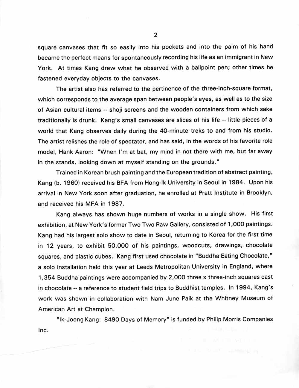 8490 Days press release, pg 2