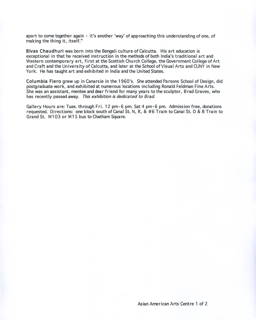 Inside One press release, pg 2