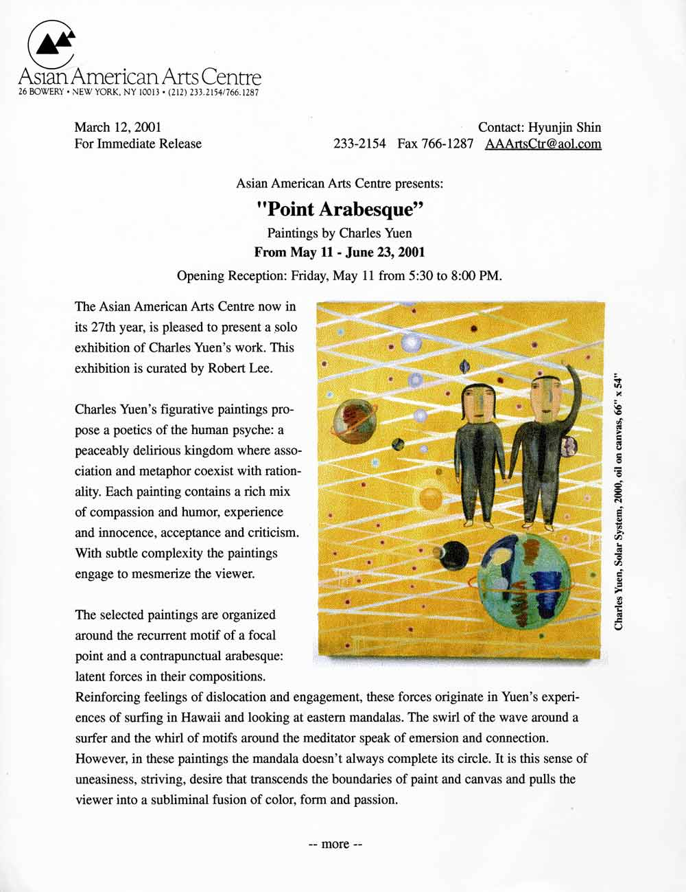 Point Arabesque press release, pg 1