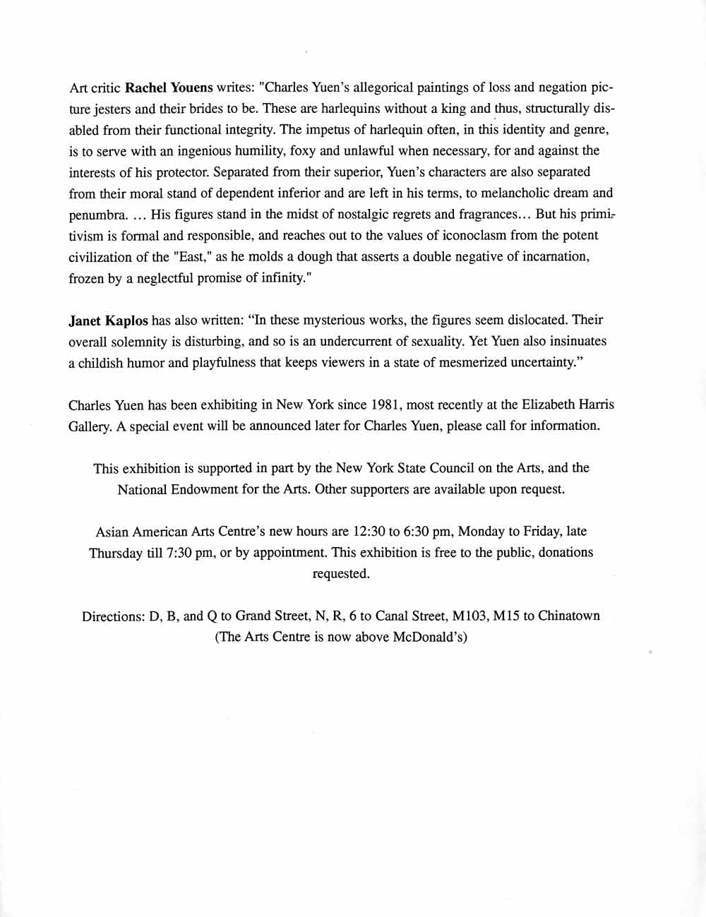 Point Arabesque press release, pg 2