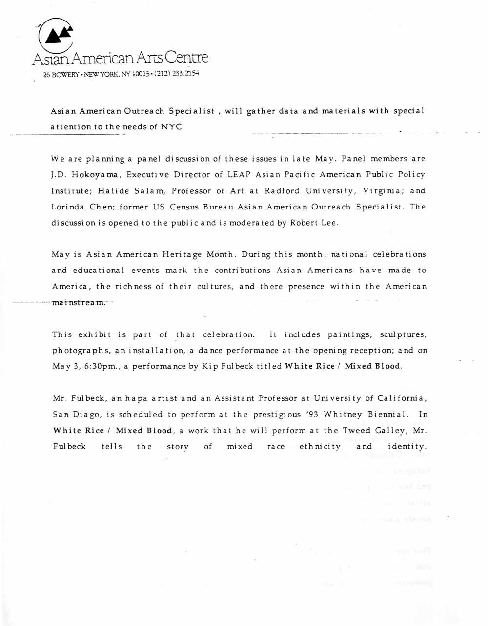 We Count press release, pg 2