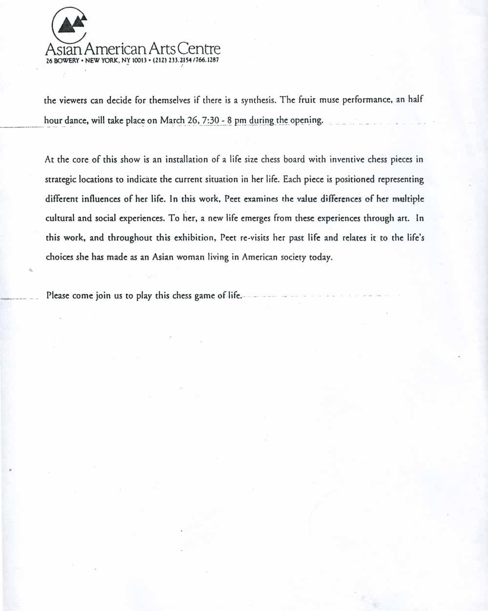 Yin Peet, press release, pg 2